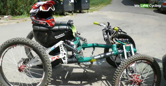 MOUNTAIN BIKE QUAD FOR DISABLED RIDERS