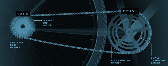 Gear Shifting On Mountain Bike