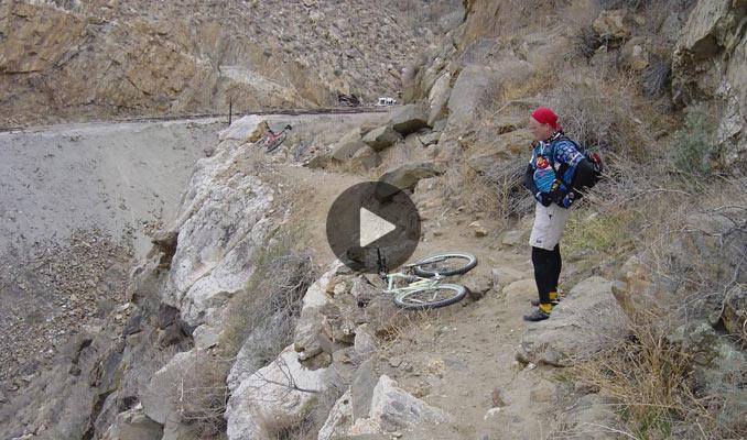 mtb crash - falling off the cliff